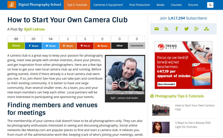 HowToStartYourOwnCameraClub